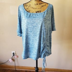 Rosegal Blue Short Bell Sleeve Tie Side Blouse NWT